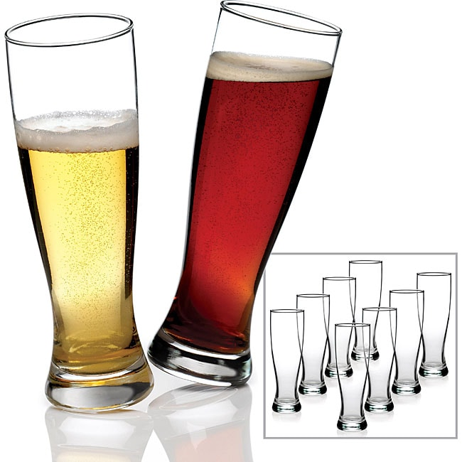 Anchor Hocking 8-piece Grand Pilsner Glass Set (Pack of 2)