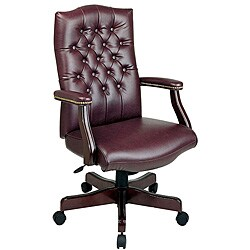 Office Star Traditional High-back Arm Chair