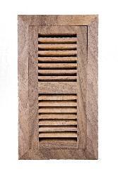 Image Flooring 4x14-inch Unfinished Walnut Wood Vent - Thumbnail 1