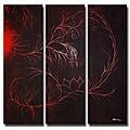'Scarlet Smoke' Canvas Art