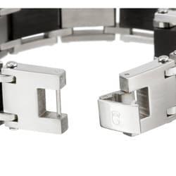 Stainless Steel Men's Cubic Zirconia Cross Bracelet - Thumbnail 1
