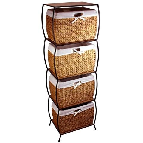 Rattan 4-drawer File Cabinet