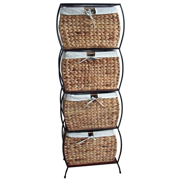Charmant Rattan 4 Drawer File Cabinet
