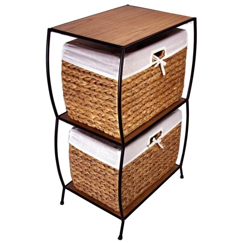 free shipping 2783e a9266 Rattan 2-drawer File Cabinet