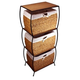 Rattan 3-drawer File Cabinet