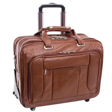 "McKlein West Town Checkpoint-Friendly Wheeled Laptop Case - 18""L x 8.75""W x 14.5""H"