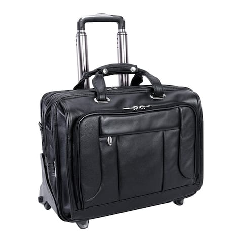 "McKlein West Town Checkpoint-Friendly Wheeled Laptop Case - 18""L x 8.75""W x 14.5""H"