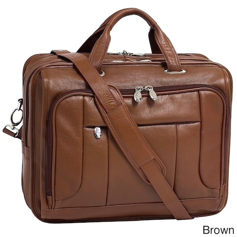 McKlein River West 15-inch Leather Laptop Case