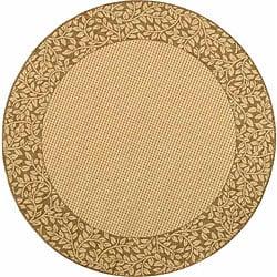 Safavieh Indoor/ Outdoor Natural/ Brown Rug (5'3 Round)