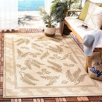 Safavieh Ferns Natural/ Brown Indoor/ Outdoor Rug - 7'10 x 11'