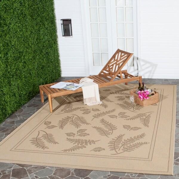 Safavieh Ferns Natural/ Brown Indoor/ Outdoor Rug - 8' x 11'