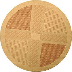Safavieh Lakeview Natural/ Terracotta Indoor/ Outdoor Rug (6'7 Round)