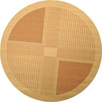 Safavieh Lakeview Natural/ Terracotta Indoor/ Outdoor Rug (6'7 Round) - 6'7 Round