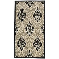 Safavieh St. Barts Damask Sand/ Black Indoor/ Outdoor Rug (2'7 x 5')
