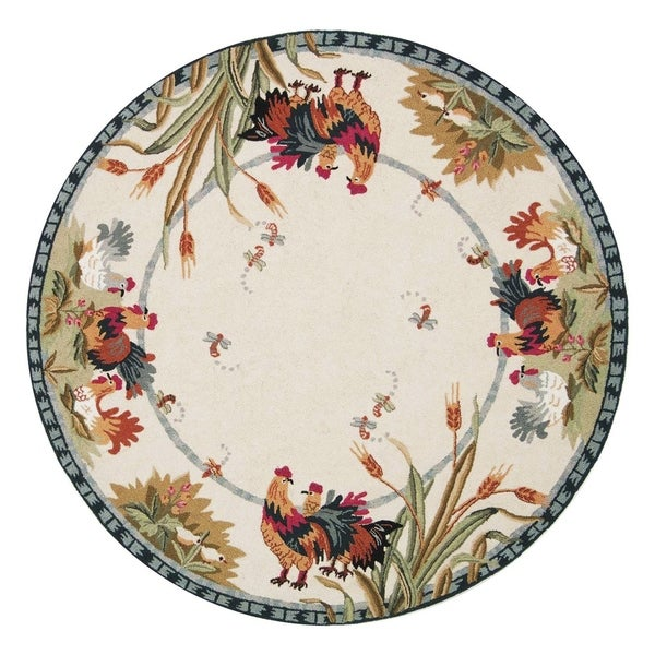 Shop Safavieh Hand Hooked Roosters Ivory Wool Rug 5 6 Quot X