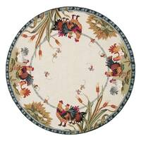 Safavieh Hand-hooked Roosters Ivory Wool Rug - 8' x 8' Round