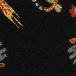 Safavieh Hand-hooked Roosters Black Wool Runner (2'6 x 4') - Thumbnail 2