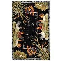 Safavieh Hand Hooked Roosters Ivory Wool Rug 5 3 X 8 3