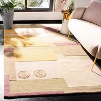 "Safavieh Handmade Rodeo Drive Modern Abstract Beige Wool Rug - 9'6"" x 13'6"""