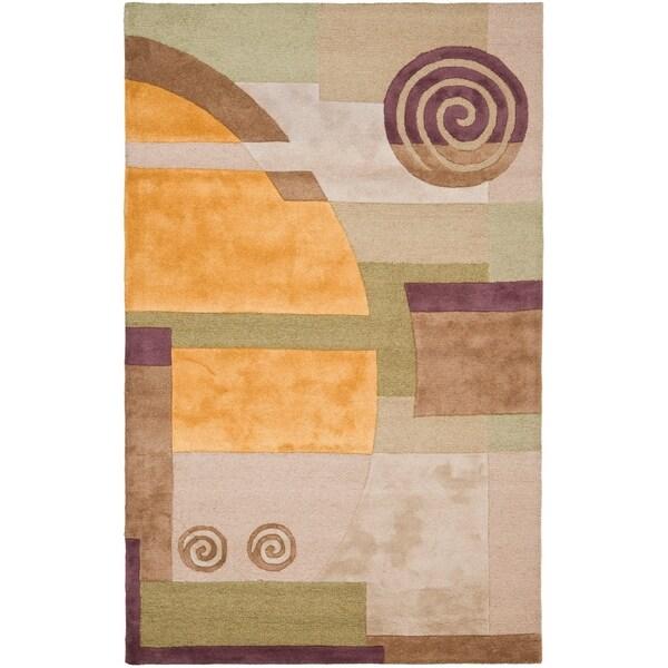 "Safavieh Handmade Rodeo Drive Modern Abstract Beige Wool Rug - 9'6"" x 13'6"""