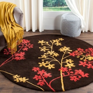 Safavieh Handmade Soho Autumn Brown New Zealand Wool Rug - 6' x 6' Round
