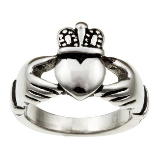 Stainless Steel Claddagh Ring (More options available)