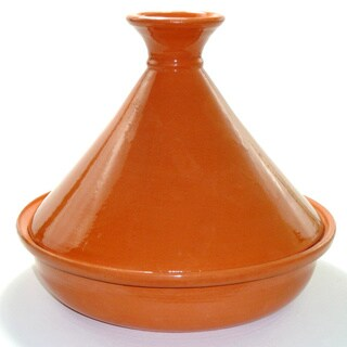 Hand-painted 12-inch Terracotta Cookable Tagine (Tunisia)