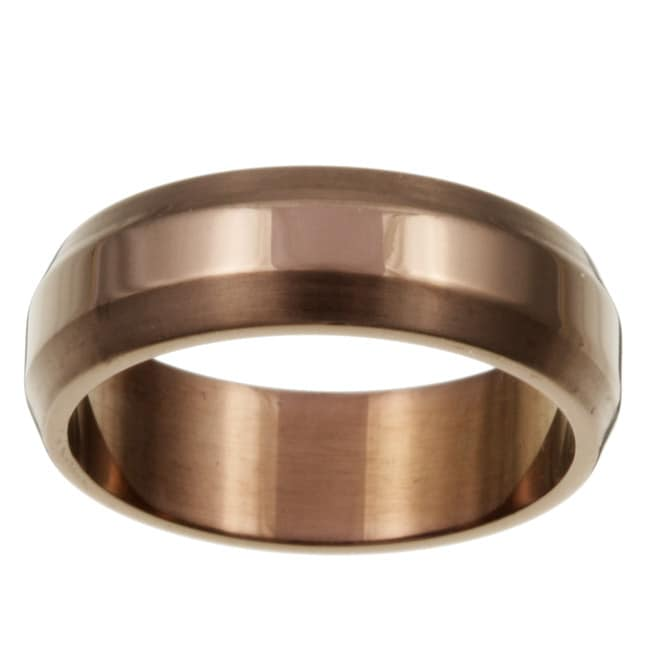 Chocolate Stainless Steel Men's Band - Thumbnail 0