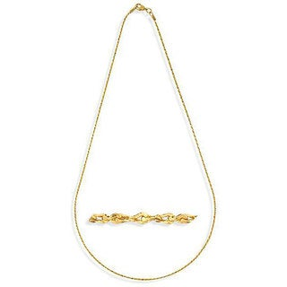 NEXTE Jewelry Brass 18-inch Nugget Chain