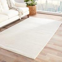 Minke Handmade Solid White/ Beige Area Rug (2' X 3') - 2' x 3'