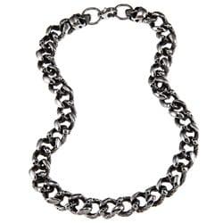 Stainless Steel Men's Skull Link Necklace