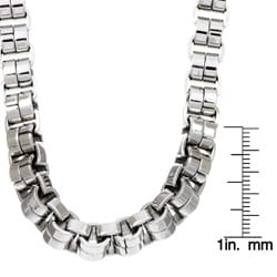 Stainless Steel Men's Venetian Link Necklace - Thumbnail 2
