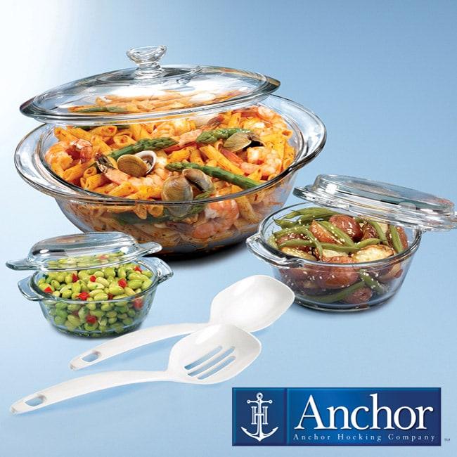 Anchor Hocking 7-piece Casserole/ Kitchen Tool Set (Case of 2)