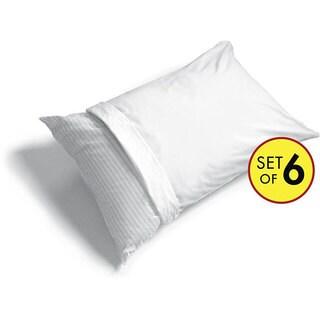 Cotton-rich Pillow Protectors (Set of 6)