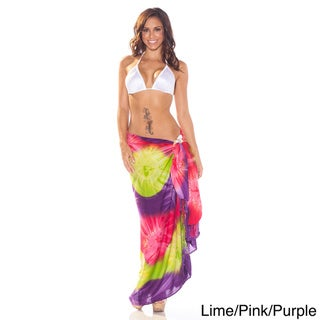 1 World Sarongs Women's Tie-dye Jungle Sarong (Indonesia)