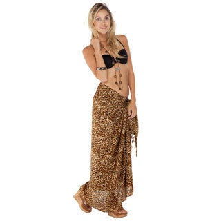 1 World Sarongs Women's Feline Print Sarong (Indonesia)