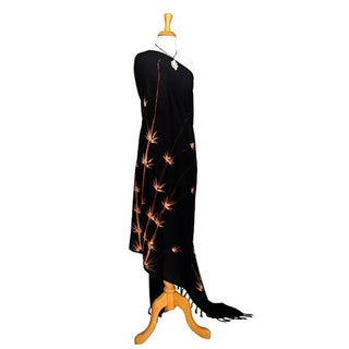 Bamboo Print Black Sarong (Indonesia)