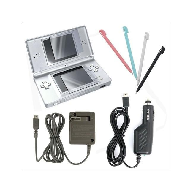 Insten Charger Stylus Screen Protector Combo for Nintendo DS Lite