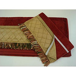Sherry Kline Pleated Gold Hook and Loop Band 3-piece Towel Set - Thumbnail 0