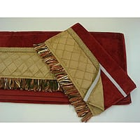 Sherry Kline Pleated Gold Hook and Loop Band 3-piece Towel Set
