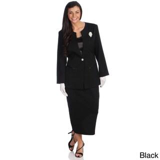 Divine Apparel Women's 3-piece Special Occasion Skirt Suit