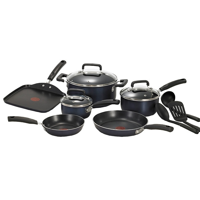Blue 12-piece Cookware Set