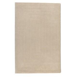 Alliyah Handmade Geo Boxes Ivory New Zealand Blend Wool Rug (5' x 8') - 5' x 8'