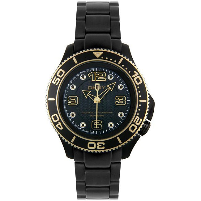 DKNY Women's Black Plated Stainless Steel Watch