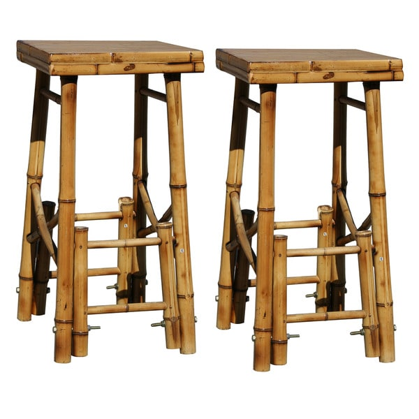 Buffalo Bamboo Bar Stools Set Of 2 Free Shipping Today 12146770