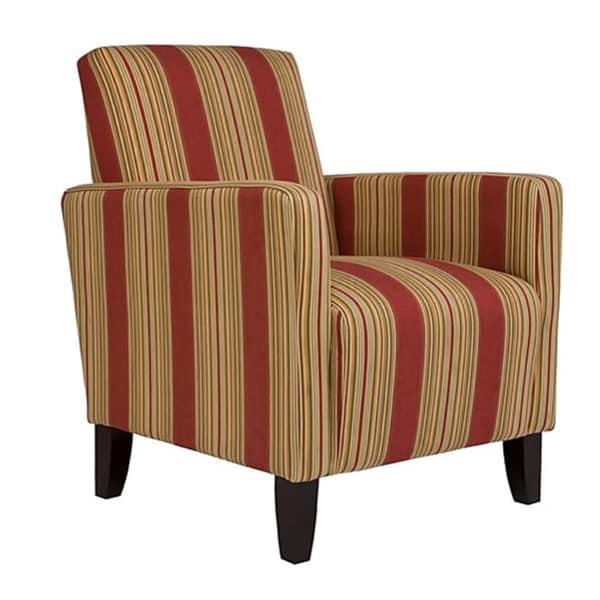 Portfolio Gia Crimson Red Stripe Urban Arm Chair
