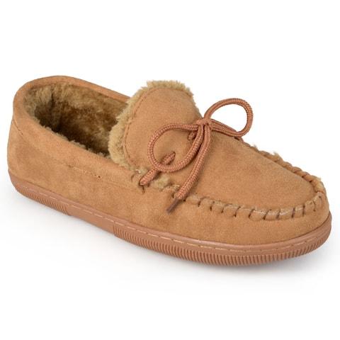 Boston Traveler Men's Suede Moccasin Slippers
