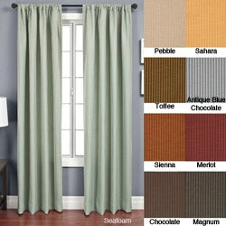 Softline Madrid Rod Pocket 84-Inch Striped-Jacquard Curtain Panel
