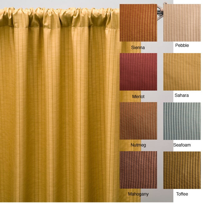 Madrid Rod Pocket 96 Inch Curtain Panel (Toffee), Brown, .