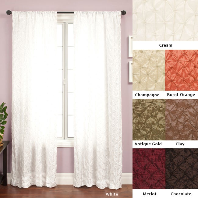Softline Zanzibar Rod Pocket 96-Inch Diamond-Pattern Curtain Panel